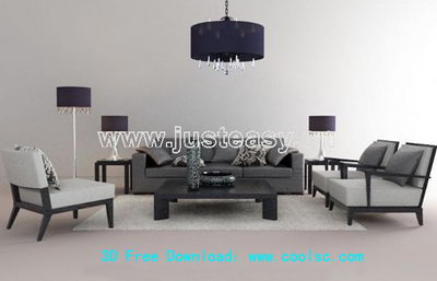 Link toPetty simple 3d model of sofa combination