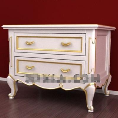 Link toPhnom penh white drawers bedside cabinet 3d model
