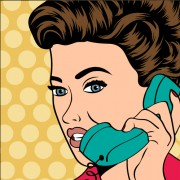 Link toPhone call woman vector 03 free