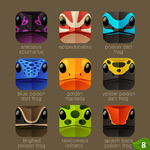 Link toPhone chameleon icons vector