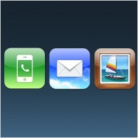 Link toPhone, mail, photos ios icons