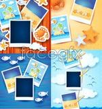 Link toPhoto album frame template vector