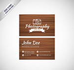 Link toPhotographer business cards vector