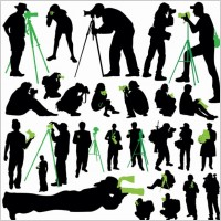 Link toPhotographer silhouette 01 vector