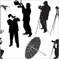 Link toPhotographer silhouette 02 vector