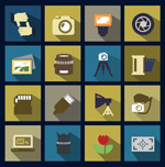 Link toPhotographic element icon vector