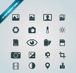 Photographic element icons vector