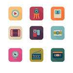 Photography and video icons vector