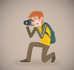 Photography of men vector