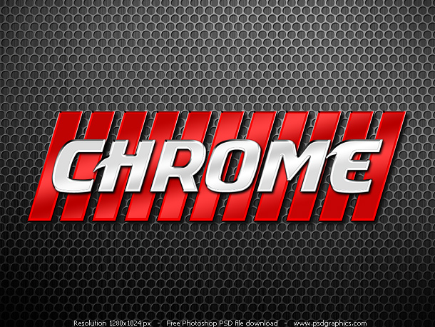 Link toPhotoshop chrome letters style psd