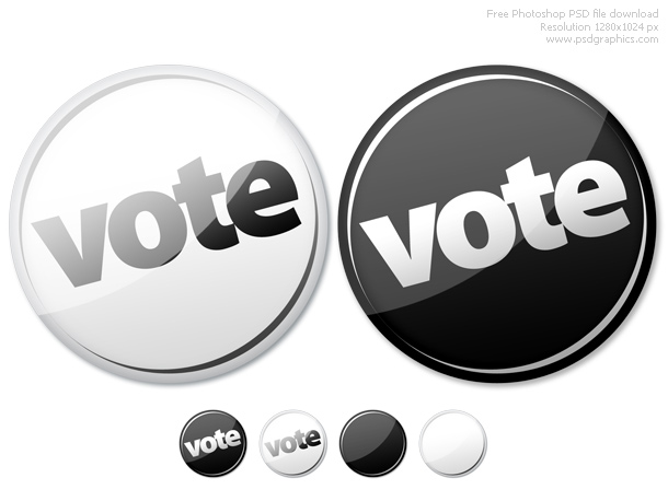 Photoshop empty and vote buttons psd