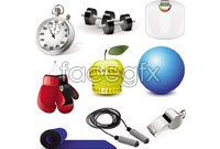 Link toPhysical training apparatus icon vector