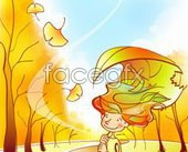 Link toPig fall scenery vector 16