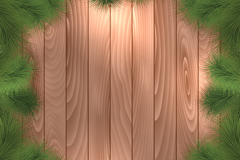 Link toPine decoration of wood background vector