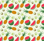 Link toPineapple and melon background vector