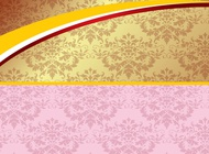 Link toPink and gold background vector free