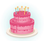 Link toPink birthday cake vector