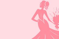 Link toPink bouquet bride background vector