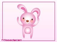 Link toPink bunny vector free
