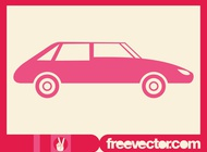 Link toPink car silhouette vector free