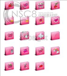 Link toPink cartoon folder icons