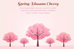 Link toPink cherry trees in spring vector