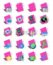 Link toPink computer icon for a folder