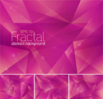 Pink crystal background vector