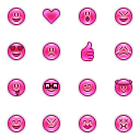 Link toPink emotes icons