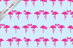 Link toPink flamingo seamless vector background illustration