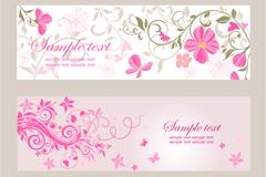 Link toPink floral banner design vector