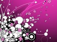Link toPink flower background vector free