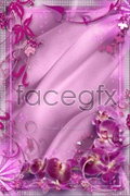 Link toPink flower border psd