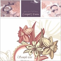 Link toPink flower card background vector