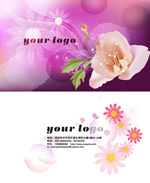 Link toPink flower card psd