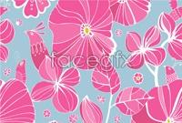 Link toPink flower decoration background vector
