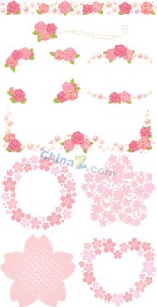 Link toPink flower decoration flowers vector