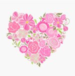 Link toPink flower of love vector