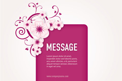 Link toPink flowers decorate the background vector