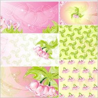 Link toPink flowers vector