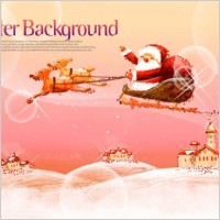 Link toPink handpainted christmas posters psd layered