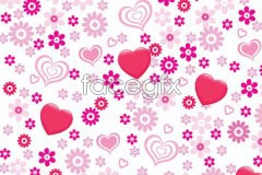 Link tovector background flower heart-shaped Pink