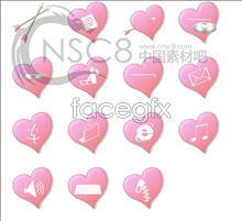 Link toPink heart-shaped icon