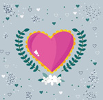 Link toPink hearts and trees vector