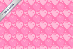 Link toPink hearts design of seamless background vector