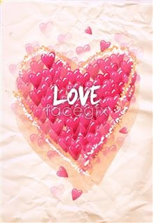 Link toPink hearts heart love graphic design creative psd