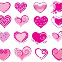 Link toPink heartshaped icon vector