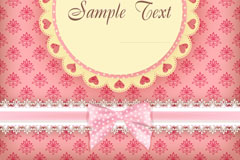 Link toPink lace bow card vector