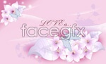Link toPink lily flower vector