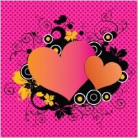 Link toPink love hearts vector illustrator eps